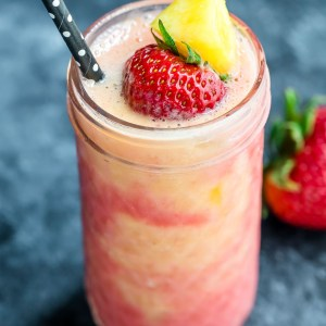 Tropical Pineapple Strawberry Swirl Smoothie