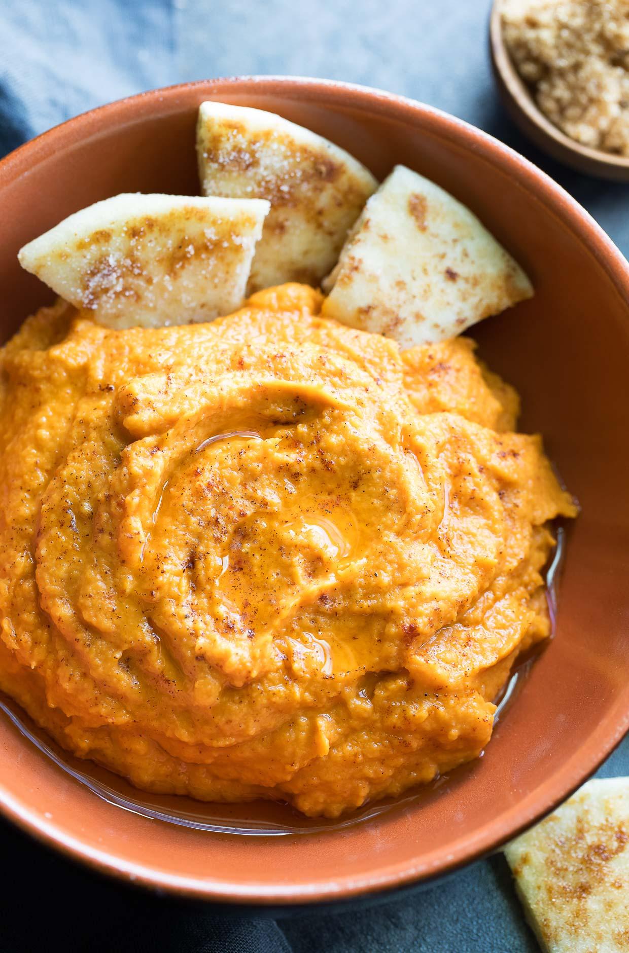 sweet potato hummus with