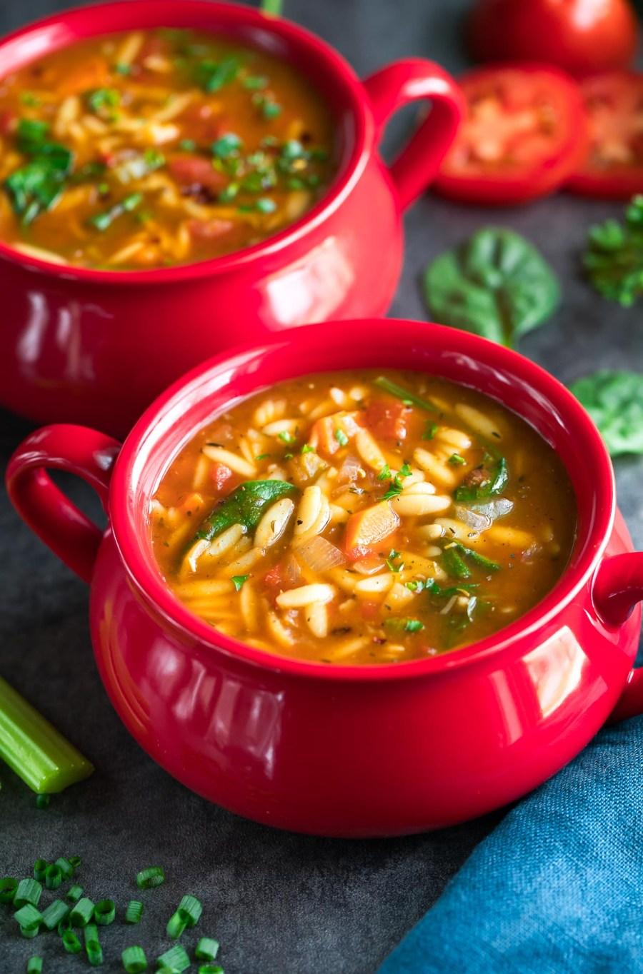 One-Pot Orzo Vegetable Soup Recipe