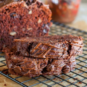 triple chocolate banana zucchini bread