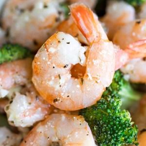 Roasted Garlic Parmesan Shrimp and Broccoli