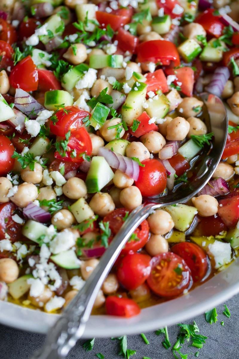 Marinated Chickpea Salad Bowl