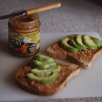 Avocado & Almond Butter Toast.