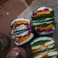 ONIGIRAZU (or 'Sushi Sandwich') | with Sweet Potato & Fried Tofu.