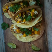 Cauliflower Tacos | with Mango + Ginger Salsa.