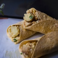 New Potato Picnic Wraps | with Cauliflower Rice & Cashews.