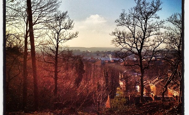 Camberley from the Obelisk #camberley #obelisk #winter