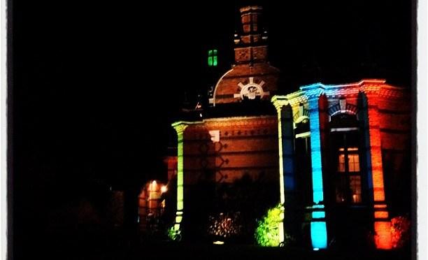 Coloured Lights #christmas #christmasparty #elvetham #hotel #lighting #colours