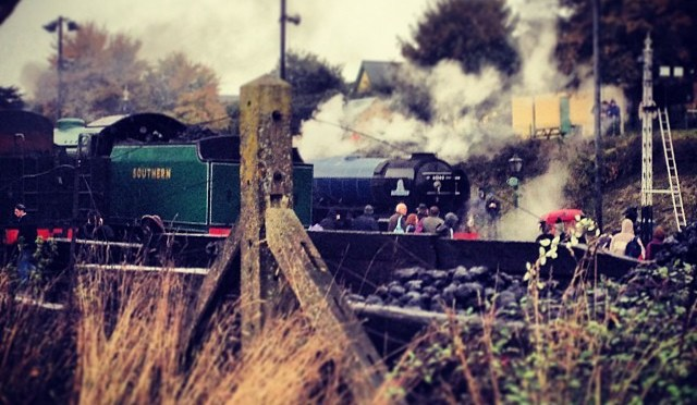 The @60163_Tornado waiting at Ropley. #steam #midhantsrailway #watercressline #60163 #tornado