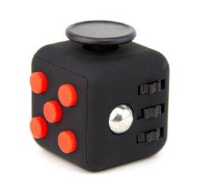fidget cube negru rosu