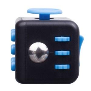 fidget cube negru-albastru