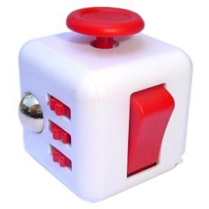 Fidget Cube alb/rosu