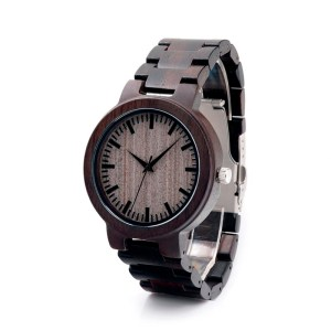 Ceas din lemn Bobo Bird curea din lemn negru