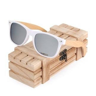 Ochelari de soare Bobo Bird alb, lentila gri