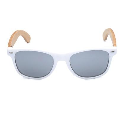 Ochelari de soare Bobo Bird alb lentila gri