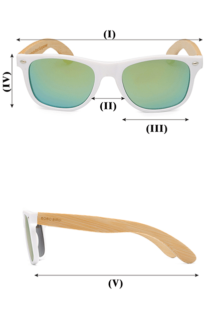 Ochelari de soare Bobo Bird alb
