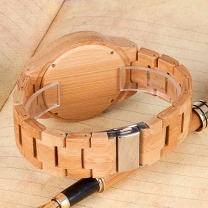 Ceas de mana din lemn de bambus Bobo Bird cu curea de bambus