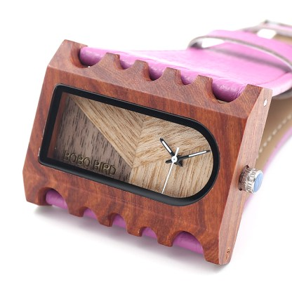 Ceas din lemn Bobo Bird dreptunghiular