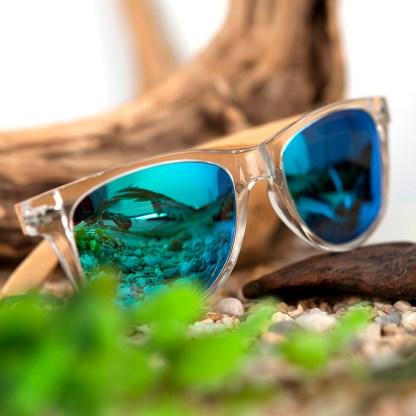 Ochelari de soare Bobo Bird transparent, cu lentila albastru