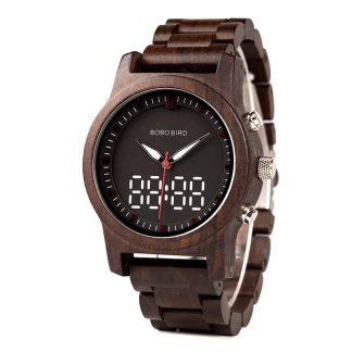 Ceas din lemn Bobo Bird led, R02
