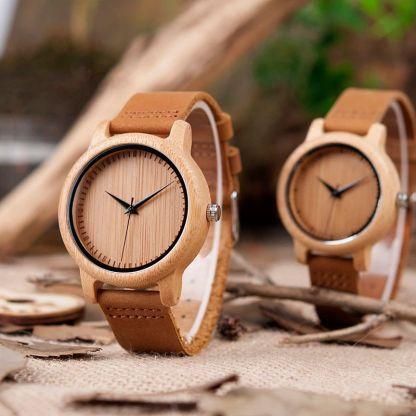 Set ceas din bambus Bobo Bird pentru cupluri