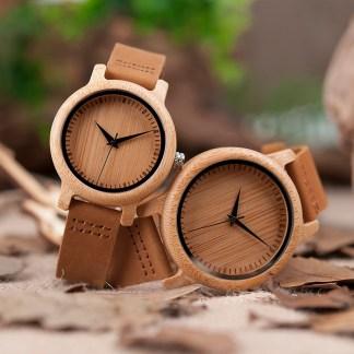 Set ceas din lemn Bobo Bird pentru cupluri