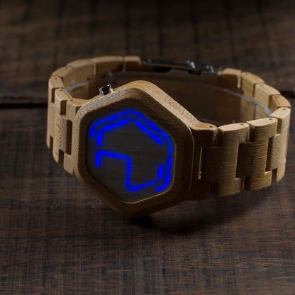 Ceas de mana din lemn Bobo Bird led, E03
