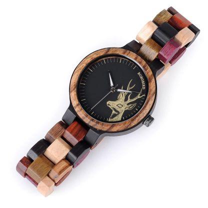 Ceas din lemn Bobo Bird cu curea din lemn P14-3
