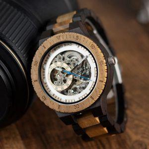 Ceas din lemn Bobo Bird mecanic R05