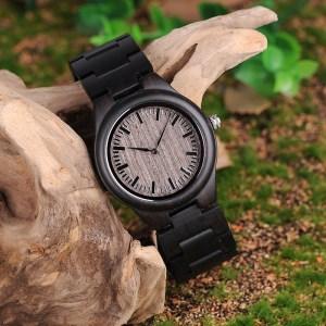 Ceas dama Bobo Bird cu curea din lemn, O08-1