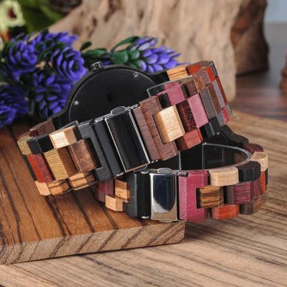 Set ceas din lemn multicolor Bobo Bird pentru cupluri P14