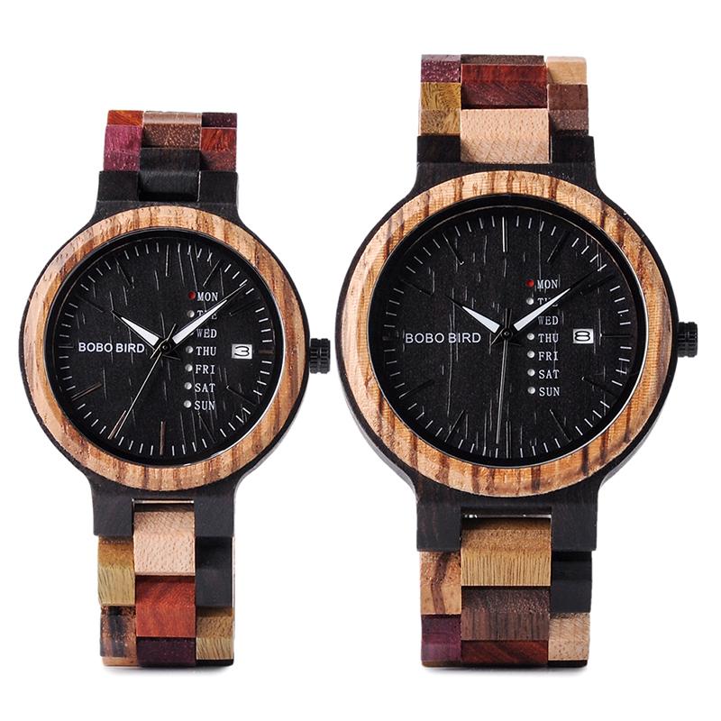 Set ceas din lemn Bobo Bird pentru cupluri, P14