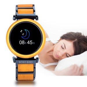 Smartwatch din lemn Bobo Bird,galben