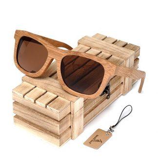 Ochelari de soare din lemn Bobo Bird BG003, lentila maro