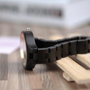 Ceas de mana de damaBobo Birddin lemn si curea din lemn