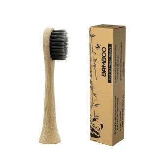 Rezerve de periuta de dinti electrica Pebadent ProResults carbon din bambus biodegradabil pentru Philips Sonicare, 1 buc