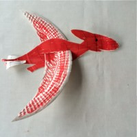 Paper plate dinosaur glider | Pebble and scribble