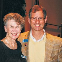 Cathy Lindstrom and Reverend Dr. John Dorhauer