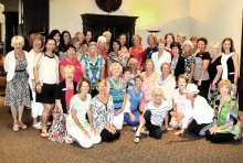 Zumba participants met for their annual luncheon celebration.