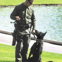 Officer Josh White with his canine partner Rudy