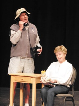 Newell Tarrant and Shirley Robinson as Norman and Ethel Thayer in PC Players production, On Golden Pond