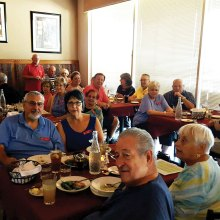 The Italian—American Club had their August luncheon meeting at the Bella Luna Italian Restaurante on Saturday, August 13, 2016. Hosting the lunch were Joe and Vera Cappiello. The meeting portion was conducted by our able President Ken Minichiello.