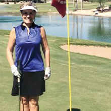 Cherrie Pierson had a hole-in-one on Palms No. 8.