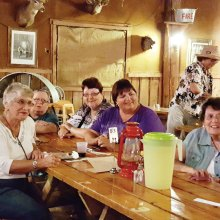 PebbleCreek Singles enjoyed an evening at the Rockin' R Ranch.