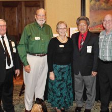 Left to right: Jim East, past president, Clint Alston, secretary/treasurer, Brenda Peterson, director, DK Loo, president and Doug Krause, director