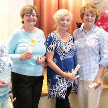 Ten Year Kare Bears award recipients, left to right: Marilyn Roberts, Farida McMaster, Janis Korba, Sherry Atwater and Norma Klinger