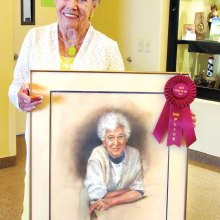Shirley Smith painted a portrait of her mother-in-law.