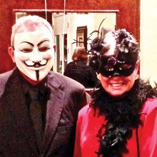 Mystery couple from last year's Masquerade Ball