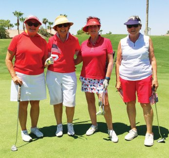 Left to right: Carol Sanders, Sue White, Tricia Self, Ruth Shaffer