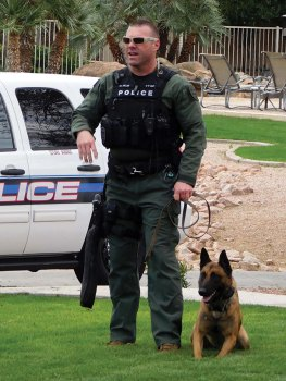 K-9 Officer Mike Miller and his canine partner